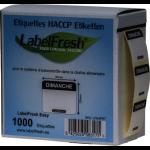 1000 LABELFRESH LABELS EASY -30X25MM- DIMANCHE